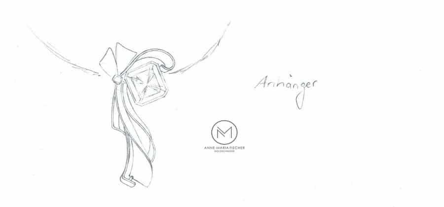 Goldschmiede Anne-Maria Fischer - AM - Leipzig - Schmuckdesign - Unikatschmuck - Meisterstück - Kundenzeichnung - Anhänger
